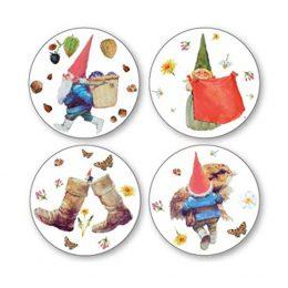 Onderzetters Kabouters in giftbox set van 12 stuks-0