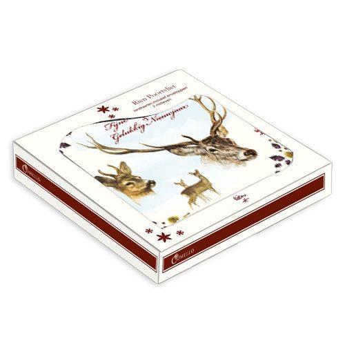 """Rien Poortvliet kerstbox """"herten""""-180"""