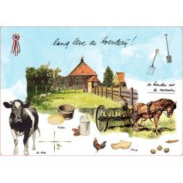 Placemats Peasant Life set of 2 pieces-0
