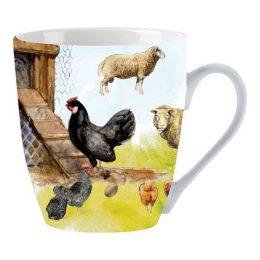 Set van 2 koffiemokken 'Lang leve de boerderij' ERF