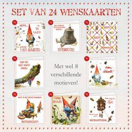 ACTIE! Set van 24 wenskaarten KABOUTER