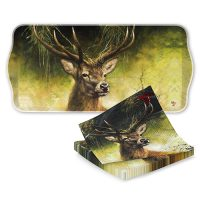 Rien Poortvliet serving tray with napkins PROUD STAG