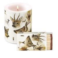 Rien Poortvliet Candle with matchsticks PORTRAITS OF DEER