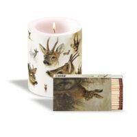 Rien Poortvliet Candle with matchsticks PORTRAITS OF DEER