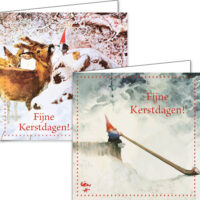 Rien Poortvliet Christmas Box Leprechaun DEER-SNOWMAN